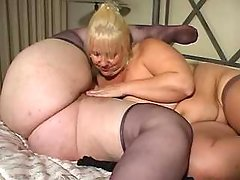 Two ultrafat ladies play with dildo bbw porn