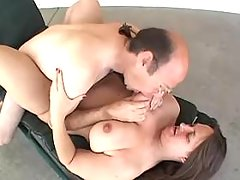 Chubby milf with giant tits sucks hard cock of man bbw porn