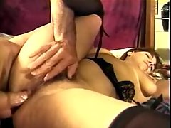 Lusty brunette fatty gets crazy fuck by macho