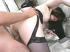 Honey fatty slurps cum after fucks bbw porn