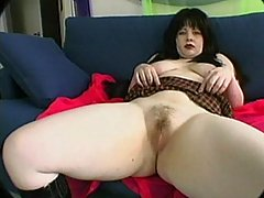 Teasing you with her big tits and pussy bbw porn