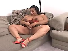 Splendid fatty taking up huge cock bbw porn