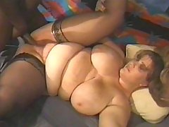 Loving the big black cock in her pussy bbw porn
