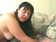 Obese mummy fucks with dudes on bed